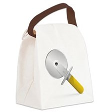 Pizza Cutter Canvas Lunch Bag