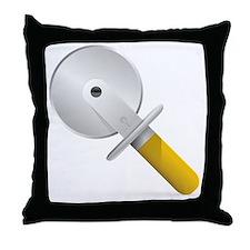 Pizza Cutter Throw Pillow
