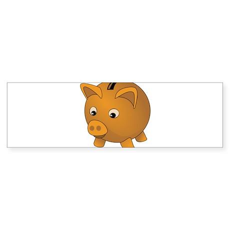 Piggy Bank Bumper Sticker