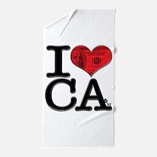 I Love Cash Beach Towel