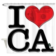 I Love Cash Shower Curtain