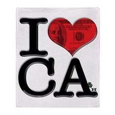 I Love Cash Throw Blanket