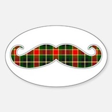 Red and Green Christmas Plaid Mustache Decal