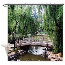 Asian garden, Shower Curtain
