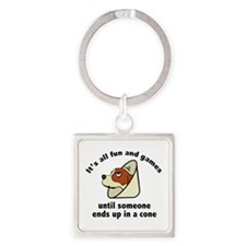 It's All Fun And Games Square Keychain