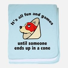 It's All Fun And Games baby blanket