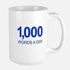 1,000 Words A Day Motivational Mugs