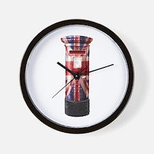 Union Jack Post Box Wall Clock