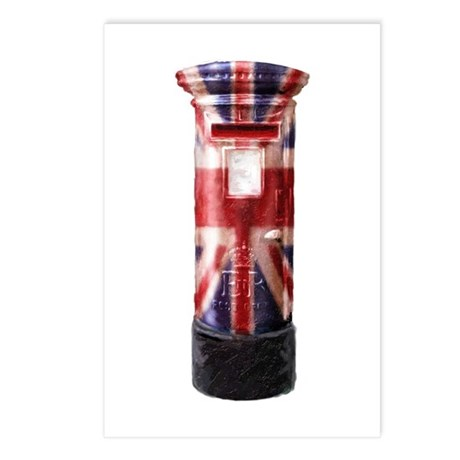 Union Jack Post Box Postcards (Package of 8)