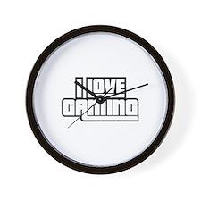 I Love Gaming Wall Clock