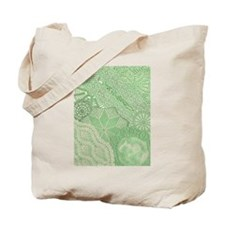 Lace panel (green) Tote Bag
