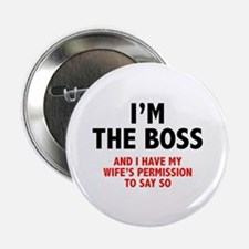 "I'm The Boss 2.25"" Button (10 pack)"