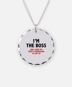 I'm The Boss Necklace Circle Charm