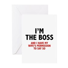 I'm The Boss Greeting Cards (Pk of 20)