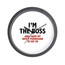 I'm The Boss Wall Clock