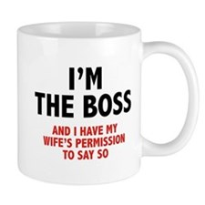 I'm The Boss Small Mugs