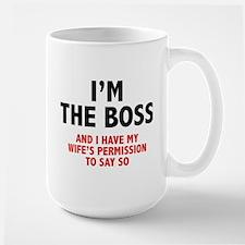 I'm The Boss Ceramic Mugs