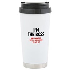 I'm The Boss Travel Coffee Mug