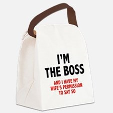 I'm The Boss Canvas Lunch Bag
