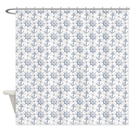 Nautical Pattern Shower Curtain