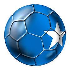 Somalia Football Round Car Magnet