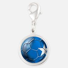 Somalia Football Silver Round Charm