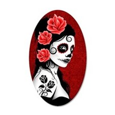 Day of the Dead Girl - Deep  Wall Decal