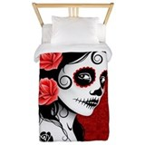 Sugar skull Twin Duvet Covers