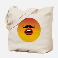 Scary Mustache Tote Bag