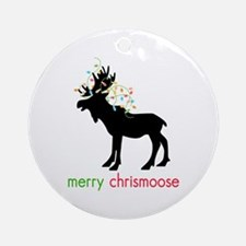 Merry Chrismoose Ornament (Round)
