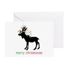 Merry Chrismoose Greeting Card