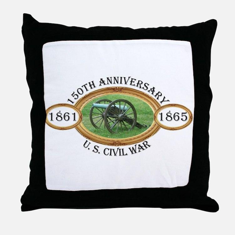 150th Anniversary - U.S. Civil War Throw Pillow