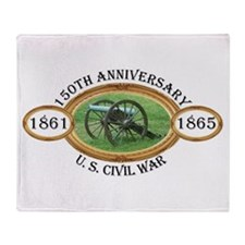 150th Anniversary - U.S. Civil War Throw Blanket