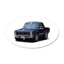 abyAmericanMuscleCar_65GTO_Black Oval Car Magnet