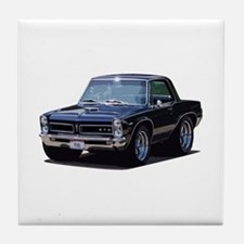 abyAmericanMuscleCar_65GTO_Black Tile Coaster