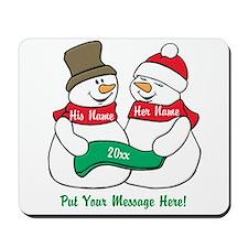Personalize It Christmas Mousepad