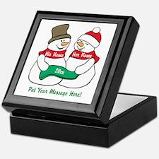Personalize It Christmas Keepsake Box