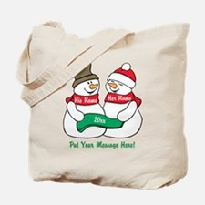 Personalize It Christmas Tote Bag
