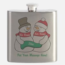 Personalize It Christmas Flask