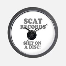 SCAT RECORDS - SHIT ON A DISC! Wall Clock