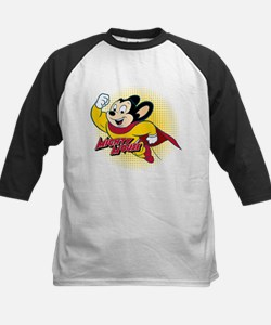 Mighty Mouse Halftone Kids Baseball Jersey
