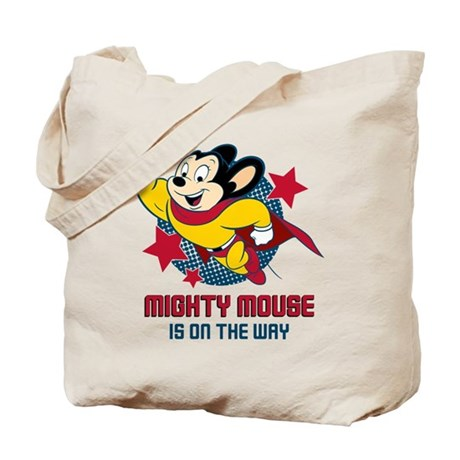Mighty Mouse On The Way Tote Bag