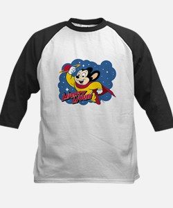Mighty Mouse Space Kids Baseball Jersey