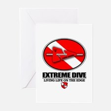 Extreme Dive (Line Marker) Greeting Cards