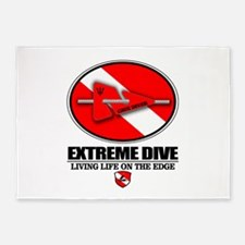 Extreme Dive (Line Marker) 5'x7'Area Rug