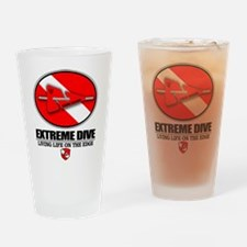 Extreme Dive (Line Marker) Drinking Glass