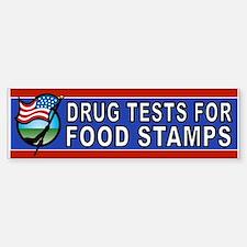 DRUGS FOOD STAMPS Bumper Bumper Bumper Sticker