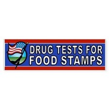 DRUGS FOOD STAMPS Bumper Car Sticker