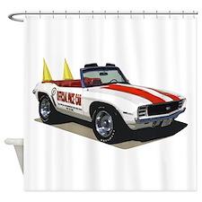 BabyAmericanMuscleCar_69_Cam_PaceCar Shower Curtai