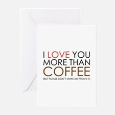 I love You More Than Coffee Greeting Cards (Pk of